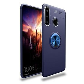 Husa din silicon cu inel magnetic rotativ pentru Huawei P30 Lite Blue