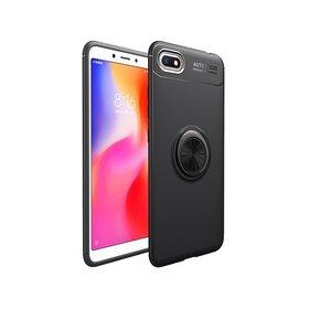 Husa din silicon cu inel magnetic rotativ pentru Huawei Y5 (2018)