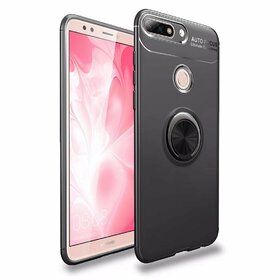 Husa din silicon cu inel magnetic rotativ pentru Huawei Y6 Prime (2018)/ Honor 7A