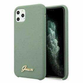 Husa din silicon Guess pentru iPhone 11 Pro Max Kaki