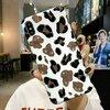 Husa din silicon moale cu print leopard pentru iPhone X/XS