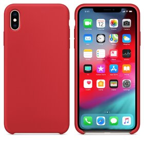 Husa din silicon moale (soft-touch) pentru iPhone XS Max