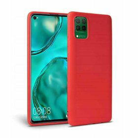 Husa din silicon Tech-Protect Icon pentru Huawei P40 Lite Red