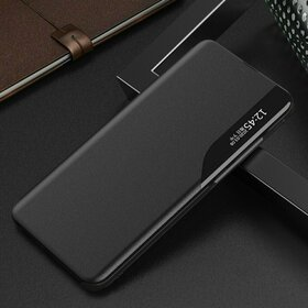 Husa Eco Leather View Case tip carte pentru Huawei P40 Lite E Black