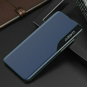 Husa Eco Leather View Case tip carte pentru Huawei P40 Lite E Blue