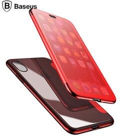 Husa Flip Baseus Transparenta pentru iPhone X/ iPhone XS