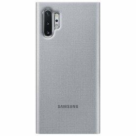 Husa Flip cu Display LED Samsung LED View pentru Samsung Galaxy Note 10 Plus Silver