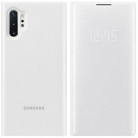 Husa Flip cu Display LED Samsung LED View pentru Samsung Galaxy Note 10 Plus White