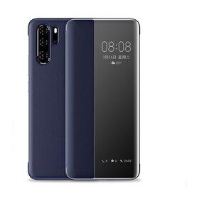 Husa flip inteligenta pentru Huawei P20 Pro Blue