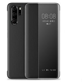 Husa flip inteligenta pentru Huawei P30 Pro Black