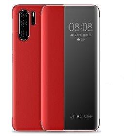 Husa flip inteligenta pentru Huawei P30 Pro Red