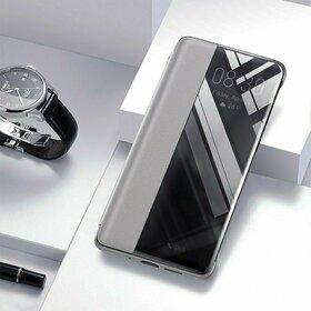 Husa flip inteligenta pentru Huawei P30 Pro Silver