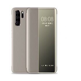 Husa flip inteligenta pentru Huawei P40 Gold