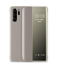 Husa flip inteligenta pentru Huawei P40 Pro Gold