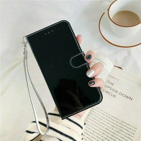 Husa Flip Mirror 3D pentru Galaxy A51 Black
