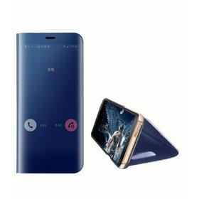 Husa Flip Mirror pentru Galaxy A8 (2018) Blue