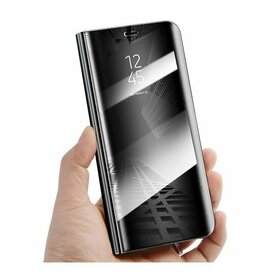 Husa Flip Mirror pentru Galaxy A8+ (2018) Black