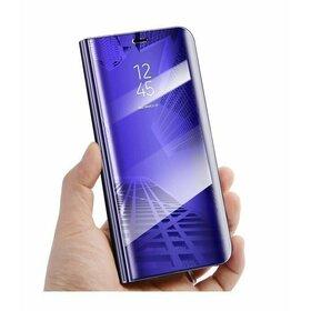Husa Flip Mirror pentru Galaxy A8+ (2018) Purple