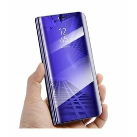 Husa Flip Mirror pentru Galaxy M20 Purple