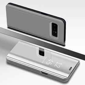 Husa Flip Mirror pentru Galaxy Note 8 Silver