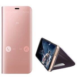 Husa Flip Mirror pentru Galaxy S6 Edge Rose Gold