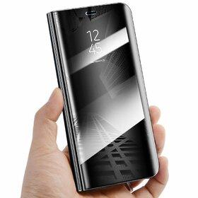 Husa Flip Mirror pentru Galaxy S7 Edge Black