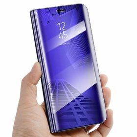 Husa Flip Mirror pentru Galaxy S7 Edge Purple