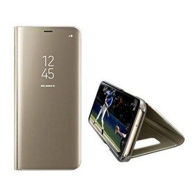 Husa Flip Mirror pentru Galaxy S9 Plus Gold