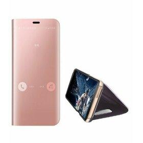 Husa Flip Mirror pentru Huawei Mate 30 Rose Gold