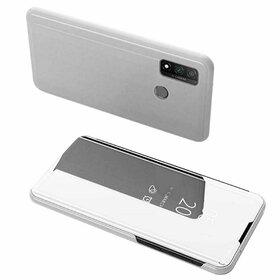 Husa Flip Mirror pentru Huawei P Smart (2020) Silver