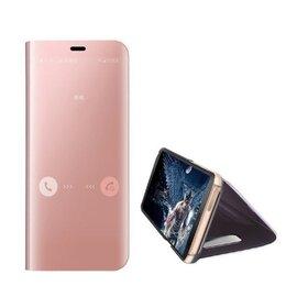 Husa Flip Mirror pentru Huawei P40 Rose Gold