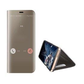 Husa Flip Mirror pentru Huawei Y5p Gold