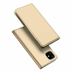 Husa flip tip Carte DUX DUCIS Skin Pro pentru iPhone 11 Gold