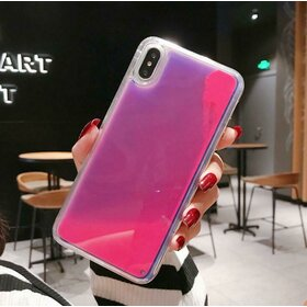 Husa Glow in the Dark pentru iPhone X/ iPhone XS Pink