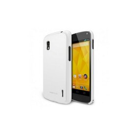 Husa Google Nexus 4 Ringke SLIM LF WHITE+BONUS folie protectie display Ringke