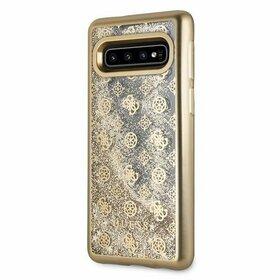 Husa Guess cu Logo si Glitter Transparenta pentru Galaxy S10