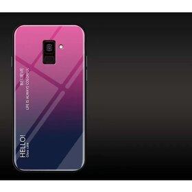 Husa Hybrid Back Degrade pentru Galaxy A8 (2018) Pink