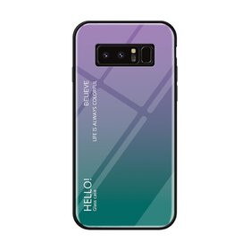Husa Hybrid Back Degrade pentru Galaxy Note 8 Purple