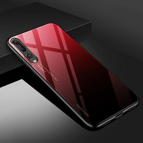Husa Hybrid Back Degrade pentru Huawei P20 Red