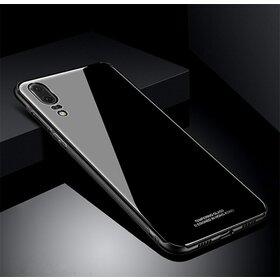 Husa Hybrid Back pentru Huawei P20 Black