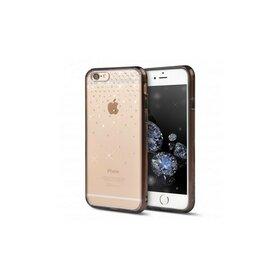 Husa iPhone 6 Plus / 6s Plus Ringke NOBLE SWAROVSKI SNOW FUSION SMOKE BLACK cu cristale premium SWAROVSKI