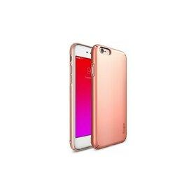 Husa iPhone 6s Plus Ringke SLIM ROSE GOLD+BONUS Ringke Invisible Defender Screen Protector