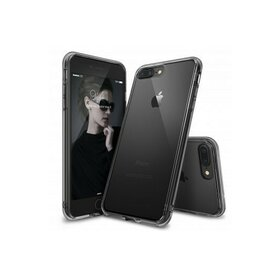Husa iPhone 7 Plus Ringke FUSION SMOKE BLACK + BONUS folie protectie display Ringke