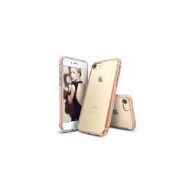 Husa iPhone 7 Ringke FUSION ROSE GOLD + BONUS folie protectie display Ringke