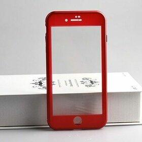 Husa iPhone SE 2 (2020) / iPhone 7/ iPhone 8 model 360 Magnetica cu Sticla fata + spate Red