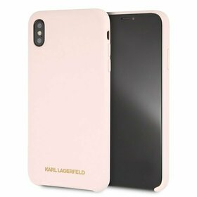 Husa Karl Lagerfeld Light Pink din silicon pentru iPhone Xs Max