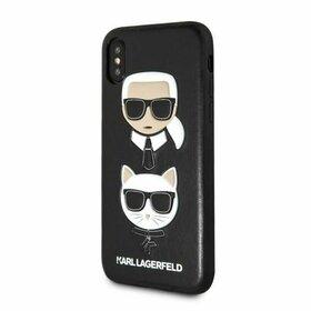 Husa Karl Lagerfeld si Choupette din piele neagra pentru iPhone X/ XS