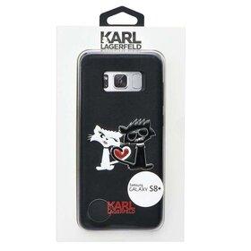 Husa Karl Lagerfeld si Choupette din piele neagra pentru Samsung Galaxy S8 plus