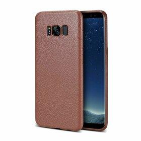 Husa Leather Skin pentru Galaxy S8 Plus