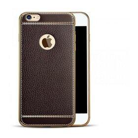 Husa Luxury Leather pentru iPhone 7+ Coffee